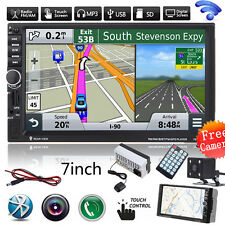 "7"" 2DIN  Bluetooth Touch Car Radio Stereo MP3 MP5 Player GPS Nav FM/USB/TF+CAM"