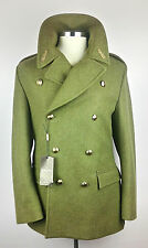 100% Auth. GUCCI Army Great Peacoat Double Breasted 48/38 Cypress $2325! BNWT
