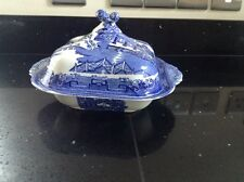 Wedgewood Blue & White Willow Pattern Tureen With Lid