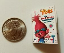 Miniature Dollhouse Disney book Barbie 1/12 Scale Trolls Poppie Branch Movie
