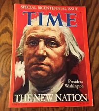 TIME MAGAZINE GEORGE WASHINGTON, SPECIAL BICENTENNIAL ISSUE DATED SEPT 26, 1789