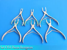 Bone Rongeurs surgical dental oral surgery instrument set of 6