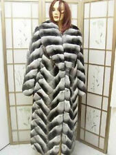 BRAND NEW RANCHED CANADIAN CHINCHILLA FUR COAT JACKET WOMAN WOMEN SIZE ALL