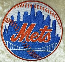 """New York NY Mets 3.5"""" Iron On Embroidered Patch"""