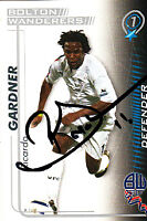 Bolton Wanderers FC Ricardo Gardner Hand 05/06 Premiership Shoot Out Signed Card