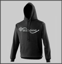 SANCTUARIES EDGE GEO CACHE ARROW HOODY FUNNY MENS LADS GEOCACHING CACHING