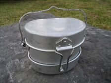 3 Piece Post WW2 Italian Army Military Mess Kit. Camping Joy! Perfect Condition!