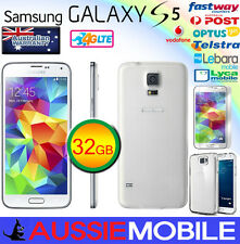 NEW IN A BOX  SAMSUNG 100%GENUINE GALAXY S5 LTE 4G 32GB WHITE UNLOCKED FREE GIFT