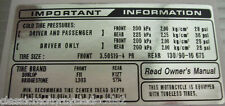 HONDA CX500 CX500C TYRE INFORMATION CAUTION DECAL