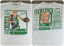 True Vintage 1990 Larry Bird Boston Celtics NBA Basketball Nutmeg T-Shirt L