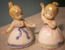 2 bone china blonde ballerina bells  3 1/4""