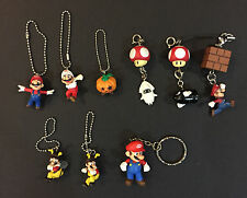 Nintendo Super Mario Galaxy and Mario Kart Figures Power Items Keychain Set