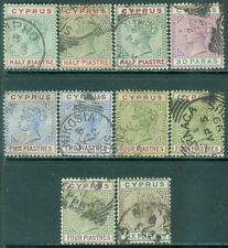 CYPRUS : 1894-96. Nice grouping of all VF, Used between SG #40-45. Catalog £85.