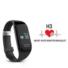 H3 Bluetooth Smart Heart Rate Monitor Bracelet Wrist Band Watch for Android IOS