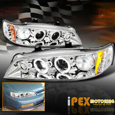 NEW For 1994-1997 Honda Accord 2Dr /4Dr Halo Projector LED Headlights Chrome
