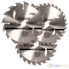 Silverline Circular Saw Blades 150mm 16 24 & 30 Teeth TCT 3 Pack 292712