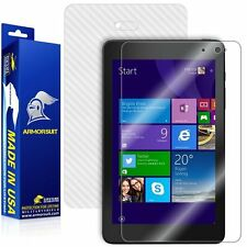 ArmorSuit Dell Venue 8 Pro 3000 Series 2014 Screen Protector + White Carbon Skin