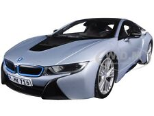 BMW i8 IONIC SILVER/MATTBLUE 1/18 DIECAST CAR MODEL BY PARAGON 97081