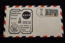NAVAL SPACE COVER 1966 GEMINI GTA-12 RECOVERY SHIP USS CANISTEO (AO-99) (2199)