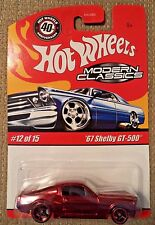 HOT WHEELS MODERN CLASSICS '67 SHELBY GT-500 RED *NEW*