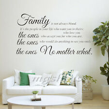 Family Quote Removable Wall Sticker Art Decal Mural DIY Living Room Home Decor