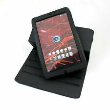 "Motorola Xoom 2 Android Tablet 8.2"" Black 360 Rotational Textured Case & Stand"