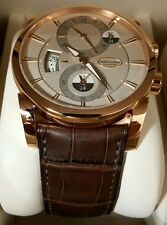 NEW! Parmigiani Rose Gold Hemispheres, Delivered 9-2014 Papers! Xstrap! $42,650!