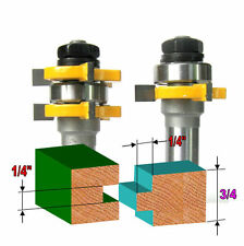 "2 pc 1/2"" Sh 1/4""x1/4"" Tongue & Groove Joint Assembly Router Bit Set sct-888"