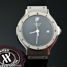 HUBLOT DEPOSE MDM 1393.1 STAINLESS STEEL CLASSIC SENYORA BLACK DIAL 30 MM WATCH