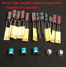 Sega Game Gear 20 Capacitor Replacement Repair Kit Fix Sound & Dim Screen . US