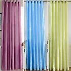 Durable Fairy Solid Blackout Window Curtain Silk Panel Bathroom Drapes 1pcs H99