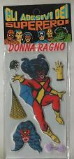 marvel gadget GLI ADESIVI DEI SUPEREROI new gio co. LA DONNA RAGNO spider-woman