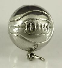 Vintage Sterling Silver Jewelry 15MM BASKETBALL Necklace Pendant Bracelet Charm