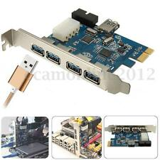 4 Port PCI-E to USB 3.0 HUB PCI Express Expansion Card Internal Chipset Adapter