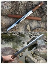 Chinese Sword Short sword Camping  High Manganese Steel Sharp Blade Hand Forge