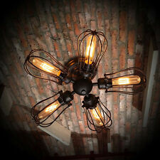 Retro Vintage Industrial 5 Bulbs Pendant Lamp Steampunk Ceiling Chandelier Light