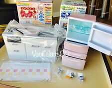 *SHIPS FROM US* Re-ment Miniature Pink Kitchen Refrigerator Stove Counter Lot