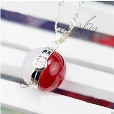 Pokemon Pocket Monster Pokeball Silver Pendant Necklace Anime Cosplay Chains