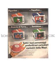 Foglio pubblicitario - I personaggi preferiti nei caricatori della Mupi - GI.16