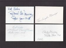 AMBY MURRAY SIGNED 3X5 CARD INSCRIBED DEBUT 1936 BEES DEC PSAGUARANTEE