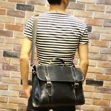 2016 New Men's Leather messenger shoulder bag vintage briefcase laptop bags