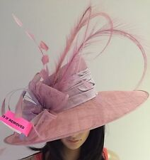 NIGEL RAYMENT COUTURE SMOKY LILAC WEDDING ASCOT OCCASION HAT MOTHER OF THE BRIDE