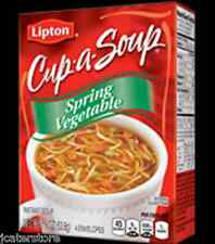 3 Boxes of Lipton Cup-A-Soup Spring Vegetable - 1.9oz Box-4 Envelopes per box