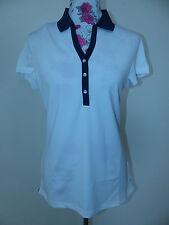 Neues Tommy Hilfiger Damen Polo Polohirt Golf T-Shirt Gr. L Weiß Schwarz NEU/OVP