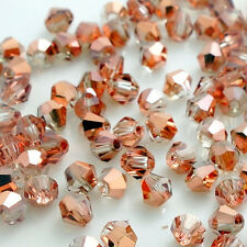 New 200pcs bicone crystal glass loose spacer 4mm beads F114