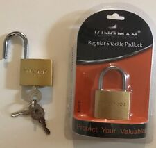 40mm Kingman Regular Shackle Padlock-3keys- Protect/Secure Your Valuables