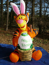 NEW OVER 6' Lighted Tigger Easter Bunny Rabbit Painting Egg Airblown Inflatable