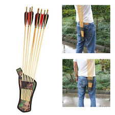 Hunting Archery Accessories Bow Arrows Quiver Belt Arrow Holder Tubes Strap New