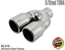 Exhaust dual tip tailpipe trim for VW Golf 5 6 GTi Look , Seat Leon Ibiza Leon