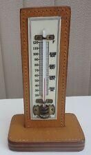 Vintage Brannan Fahrenheit Desk Thermometer - Stitched Pigskin (R.T.S.C.)